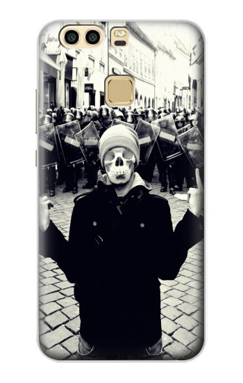 Printed Skull Mask Man Protester Huawei P9 Case