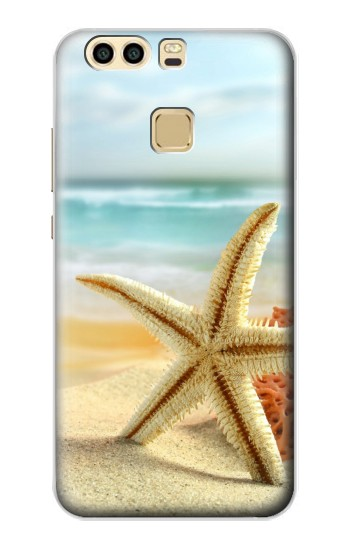 Printed Starfish on the Beach Huawei P9 Case