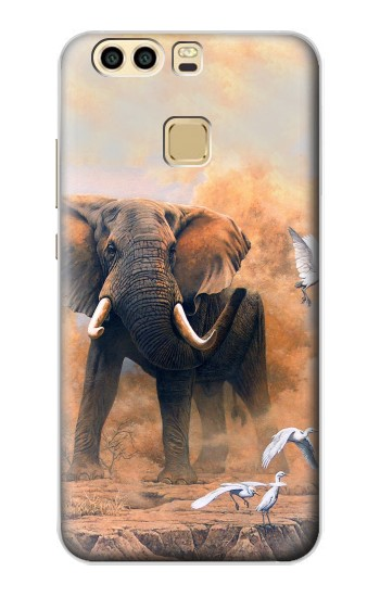 Printed Dusty Elephant Egrets Huawei P9 Case