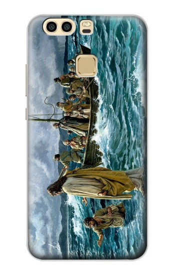 Printed Jesus Walk on The Sea Huawei P9 Case