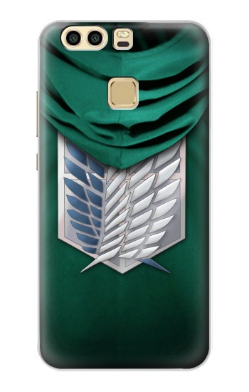 Printed Attack on Titan Scouting Legion Rivaille Green Cloak Huawei P9 Case