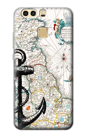 Printed Nautical Chart Huawei P9 Case