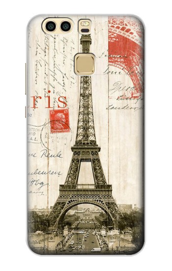 Printed Eiffel Tower Paris Postcard Huawei P9 Case