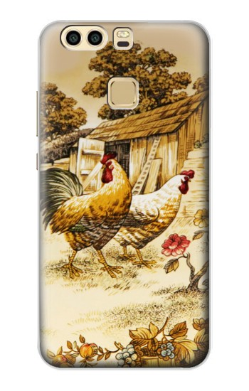 Printed French Country Chicken Huawei P9 Case