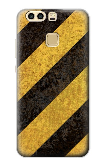 Printed Yellow and Black Line Hazard Striped Huawei P9 Case