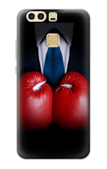 Printed Businessman In Black Suit With Boxing Gloves Huawei P9 Case