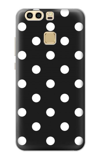Printed Black Polka Dots Huawei P9 Case