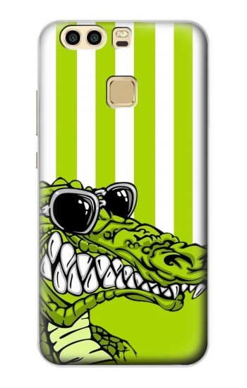 Printed Funny Green Alligator Crocodile Huawei P9 Case