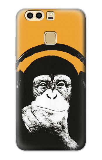 Printed Funny Monkey with Headphone Pop Music Huawei P9 Case