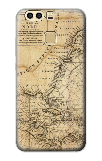 Printed Exploration North America Map Huawei P9 Case