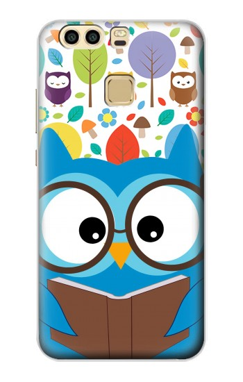 Printed Cute Owl Cartoon Huawei P9 Case