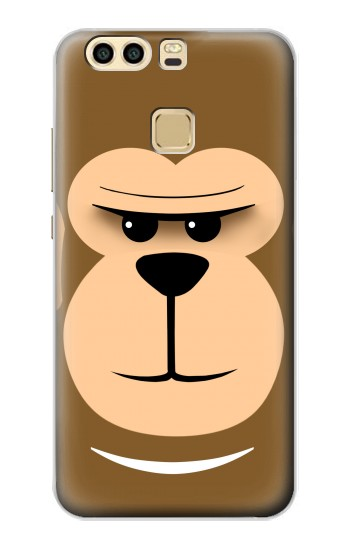 Printed Cute Monkey Cartoon Face Huawei P9 Case