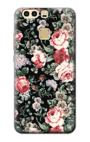 Printed Vintage Rose Pattern Huawei P9 Case