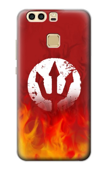 Printed Fire Red Devil Symbol Huawei P9 Case