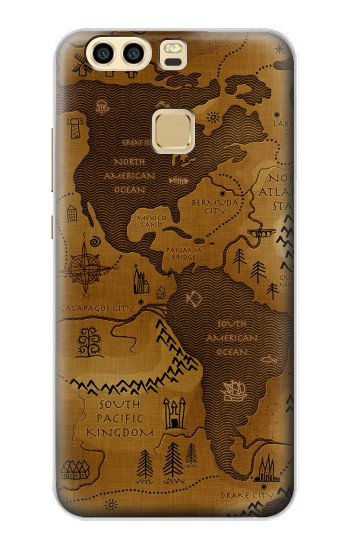 Printed Antique Style Map Huawei P9 Case