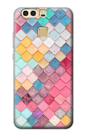 Printed Candy Minimal Pastel Colors Huawei P9 Case
