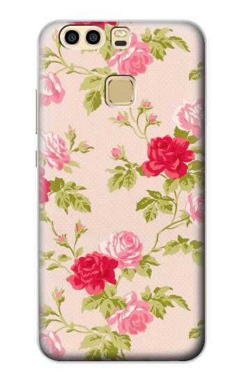 Printed Pretty Rose Cottage Flora Huawei P9 Case