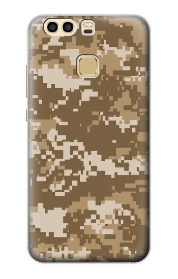 Printed Army Camo Tan Huawei P9 Case