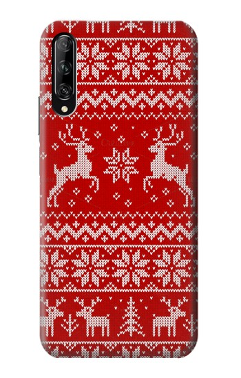 Printed Christmas Reindeer Knitted Pattern Huawei P smart Pro 2019 Case