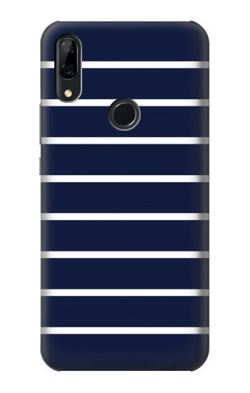 Printed Navy White Striped Huawei P Smart Z Case
