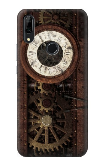 Printed Steampunk Clock Gears Huawei P Smart Z Case