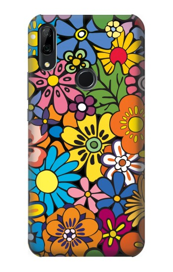 Printed Colorful Flowers Pattern Huawei P Smart Z Case