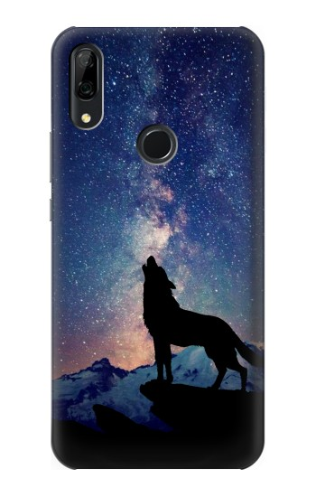 Printed Wolf Howling Million Star Huawei P Smart Z Case