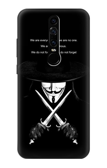 Printed V Mask Guy Fawkes Anonymous Huawei Mate RS Porsche Design Case