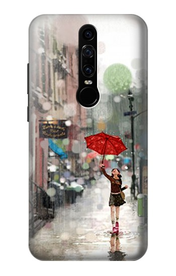 Printed Girl in The Rain Huawei Mate RS Porsche Design Case