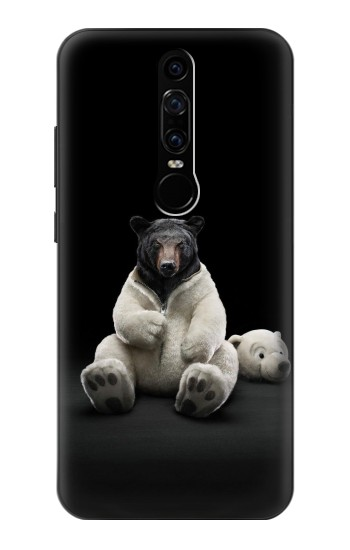 Printed Black Bear Huawei Mate RS Porsche Design Case