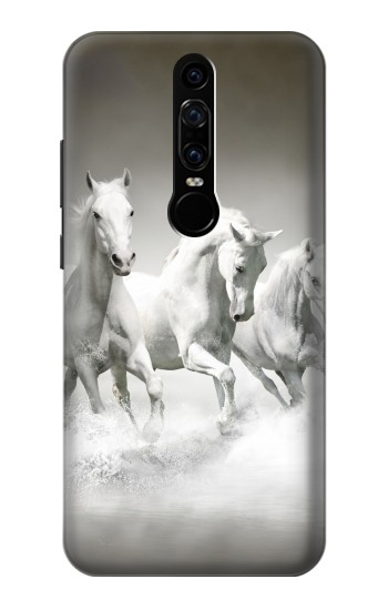 Printed White Horses Huawei Mate RS Porsche Design Case
