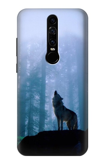 Printed Wolf Howling in Forest Huawei Mate RS Porsche Design Case