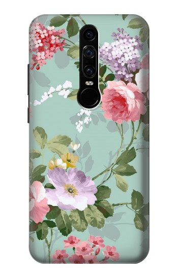 Printed Flower Floral Art Painting Huawei Mate RS Porsche Design Case