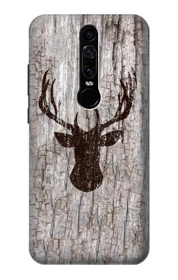 Printed Deer Head Old Wood Texture Huawei Mate RS Porsche Design Case