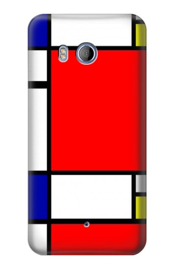 Printed Composition Red Blue Yellow HTC Desire 530 Case