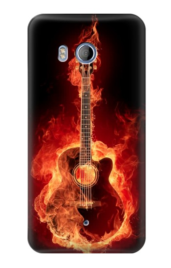 Printed Fire Guitar Burn HTC Desire 530 Case