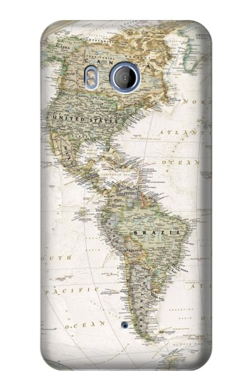 Printed World Map HTC Desire 530 Case