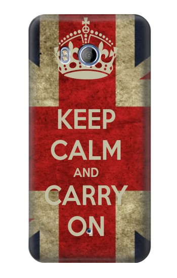 Printed Keep Calm and Carry On HTC Desire 530 Case