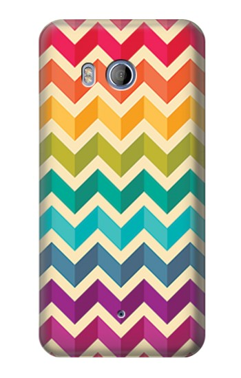 Printed Rainbow Colorful Shavron Zig Zag Pattern HTC Desire 530 Case