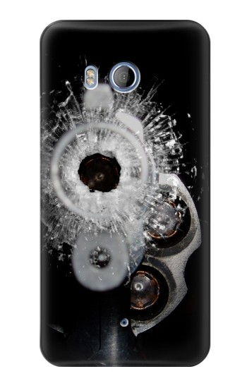 Printed Gun Bullet Hole Glass HTC Desire 530 Case