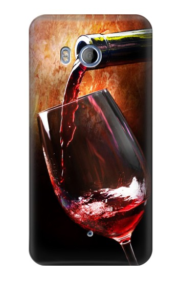 Printed Red Wine Bottle And Glass HTC Desire 530 Case