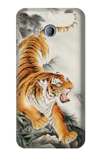 Printed Chinese Tiger Tattoo Painting HTC Desire 530 Case