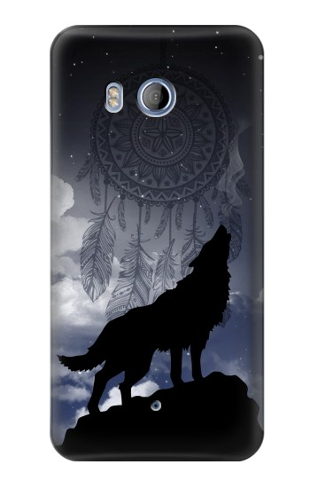 Printed Dream Catcher Wolf Howling HTC Desire 530 Case