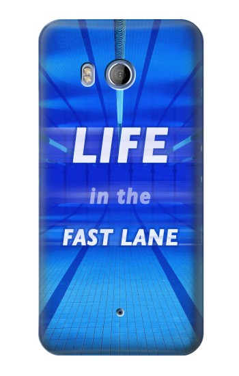 Printed Life in the Fast Lane Swimming Pool HTC Desire 530 Case