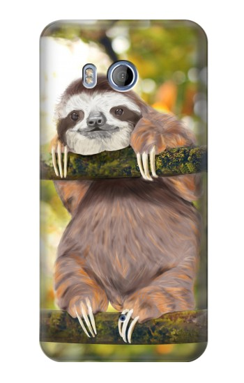 Printed Cute Baby Sloth Paint HTC Desire 530 Case