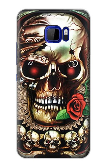 Printed Skull Wing Rose Punk HTC Desire 616 dual sim Case