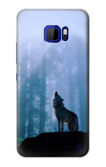 Printed Wolf Howling in Forest HTC Desire 616 dual sim Case