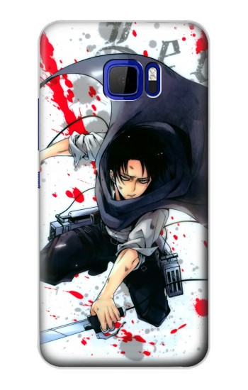 Printed Attack on Titan Rivaille Levi HTC Desire 616 dual sim Case