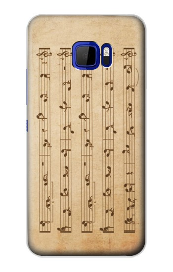 Printed Music Note Sex Positions HTC Desire 616 dual sim Case