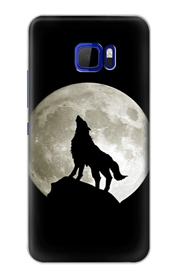 Printed Wolf Howling at The Moon HTC Desire 616 dual sim Case